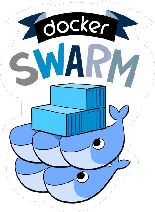 """alt=""""swarm docker group of either physical or virtual machines"""""""